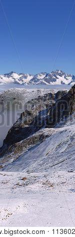 Vertical Mountain Panorama