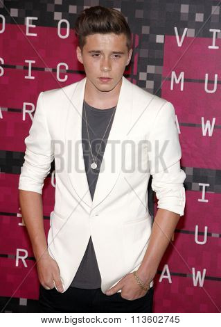 Brooklyn Beckham at the 2015 MTV Video Music Awards held at the Microsoft Theatre in Los Angeles, USA on August 30, 2015.