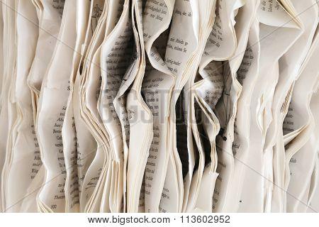 wrinkled paper - book