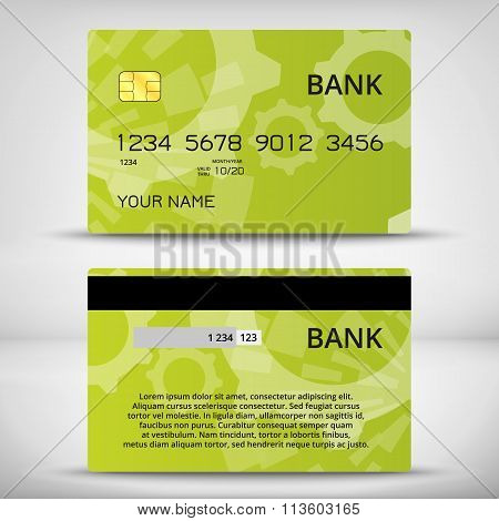 Templates of credit cards design