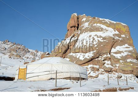 Nomadic Yurt in Terelj National Park. Mongolia