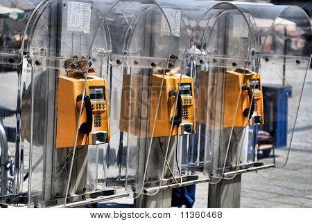 Yellow Public Telephone