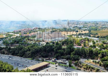 Aerial view from Christo Rei statue