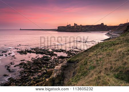 Tynemouth Priory And Castle At Dusk