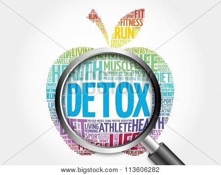 Detox apple word cloud