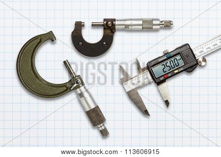 Micrometers And Digital Vernier Calipers