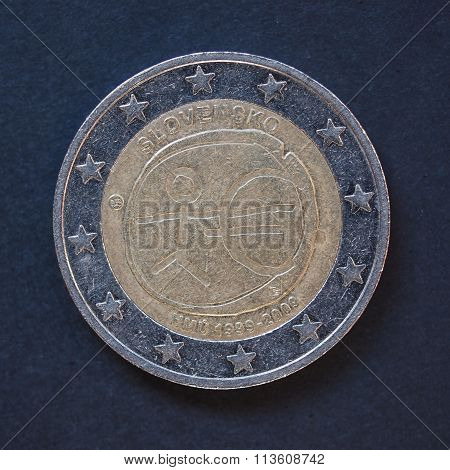 2 Euro Coin From Slovakia
