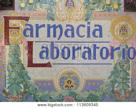Pharmacy laboratory signboard