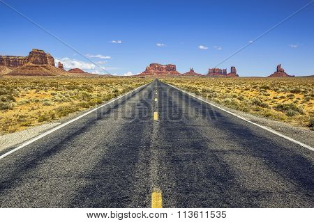 Scenic Road To Monument Valley