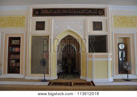 Mihrab of Tuanku Munawir Royal Mosque in Negeri Sembilan