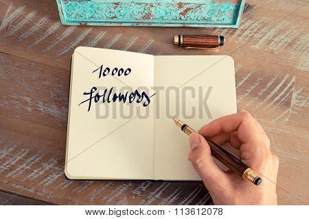 Motivational Concept With Handwritten Text 10000 Followers