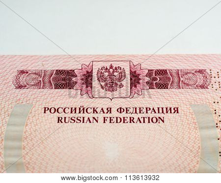 Russian Passport Pages