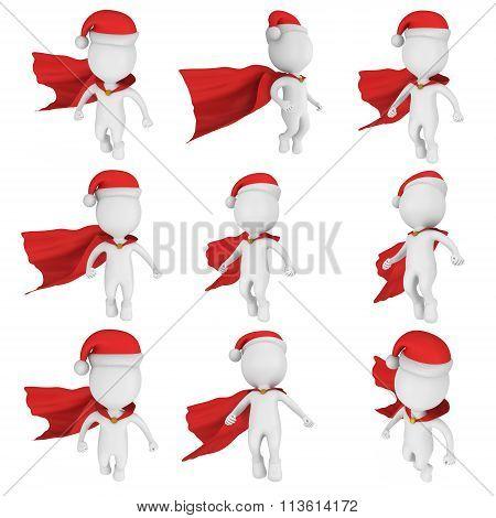 Santa Claus Brave Superhero Flying Set