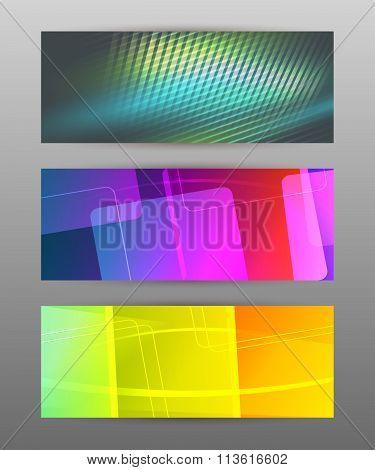 Set Of Horizontal Banner Header Website4