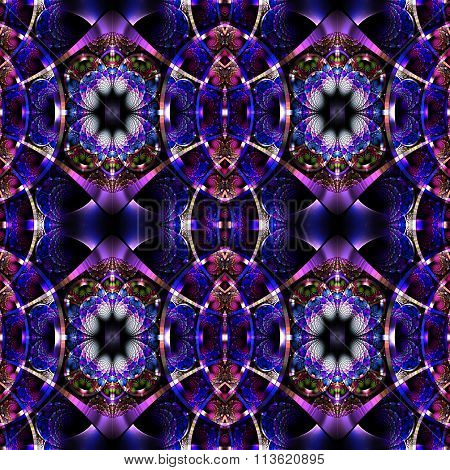 Beautiful Fractal Pattern With Shiny Strips. Collection -  Rhinestones. You Can Use It For Invitatio