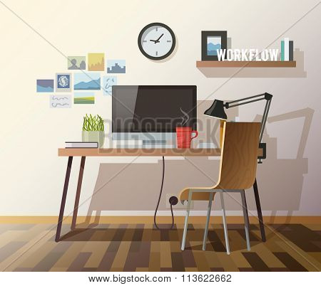 Vector workplace illustration