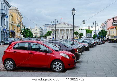 Street Didzioji And Town Hall Square, Vilnius, Lithuania