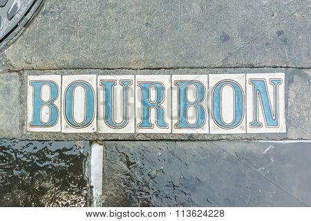 Bourbon Street In The Sidewalk