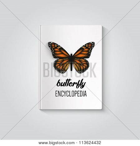 Hardcover Of Book Butterfly Encyclopedia.