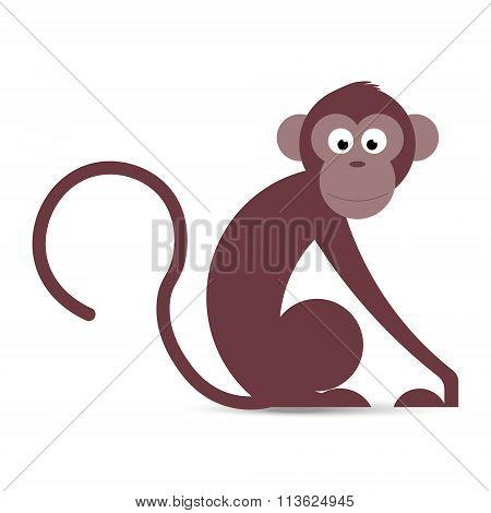 Funny Cartoon Monkey In Vector