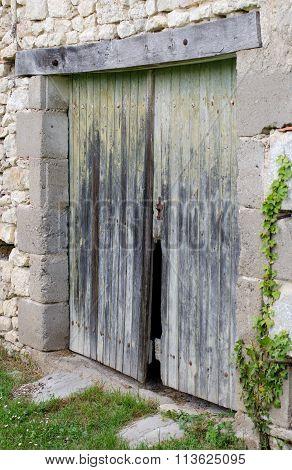 old wooden barn doors