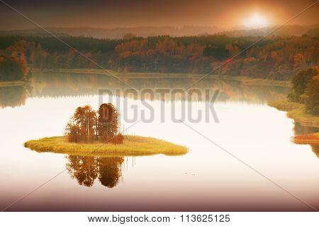 Jedzelewo lake island