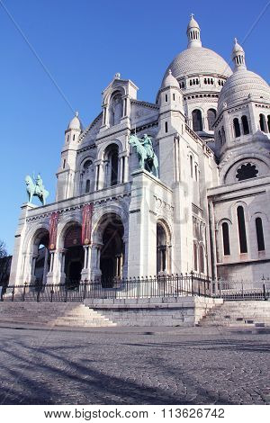 Basilica Sacre Coeur at Montmartre in Paris France