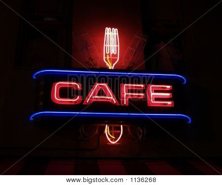 Cafe Neon Sign