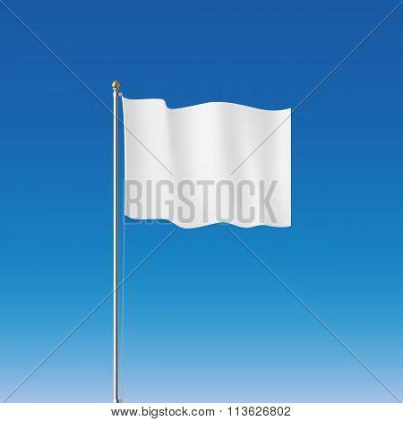 White Flag. Stock Illustration.