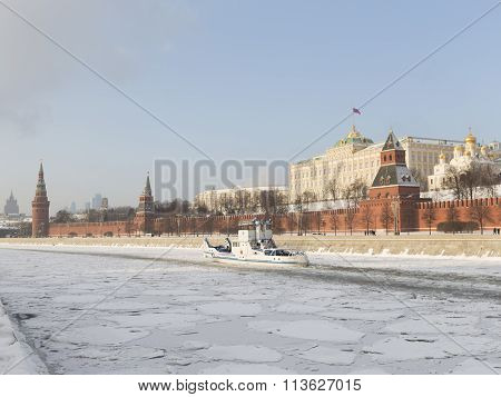 Small Ship - The Icebreaker In Moscow