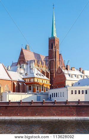 Wroclaw. Catholic church of the Holy Cross.