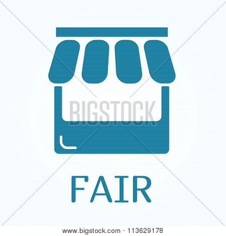 Icon Or Sign Of Fair In Flat Style
