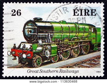 Postage Stamp Ireland 1984 Macha, Great Southern Railways
