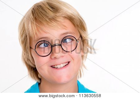 Cross-eyed Blond Boy