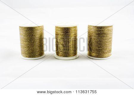 Gold Thread Spools:bobbins