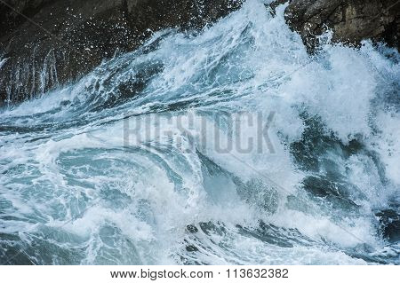 Sea waves during a storm