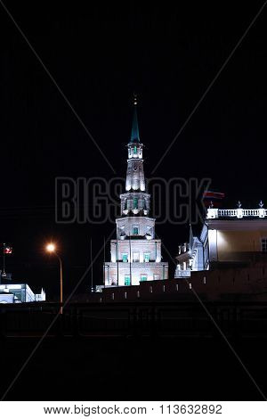 Syuyumbike Tower And Governor's Palace On The Territory Of The Kazan Kremlin