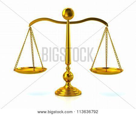 Illustration Of Golden Scales