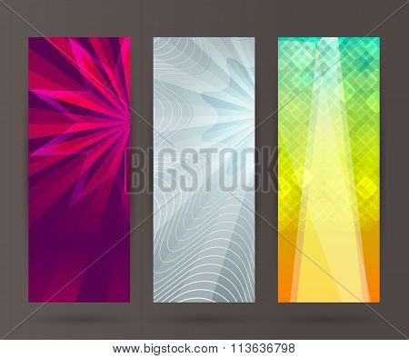 Set Vertical Banner Background Template Layout Flyer44
