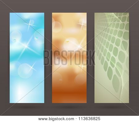 Set Vertical Banner Background Template Layout Flyer45