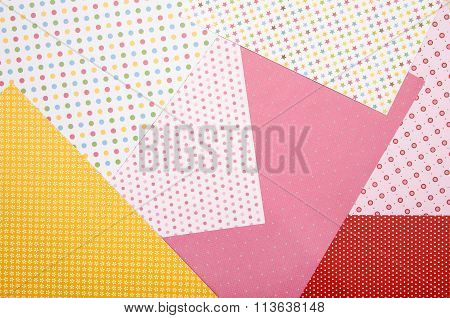 Color Craft Paper With Different Patterns.