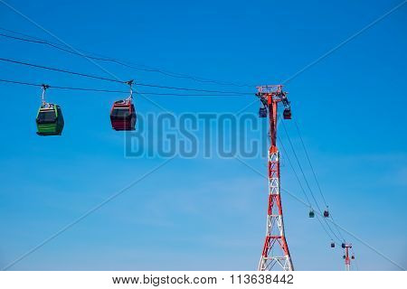 Cableway With Cabins