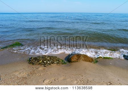 Sea, Waves And Stones