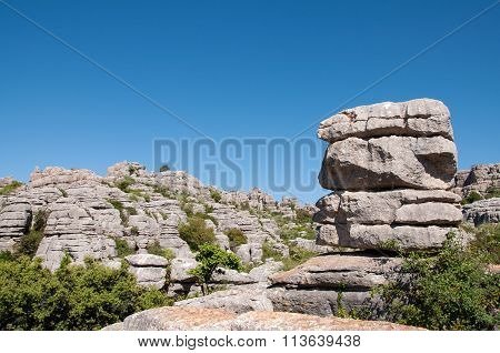 Limestone rock formations