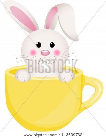 Easter bunny in teacup