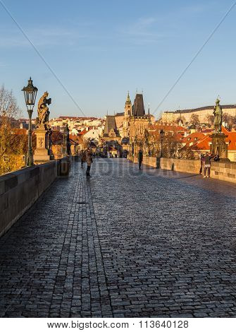 Charles Bridge In Czech Republic
