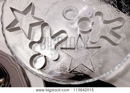 Set Of Star And Ginger Bread Man Cookie Cutters
