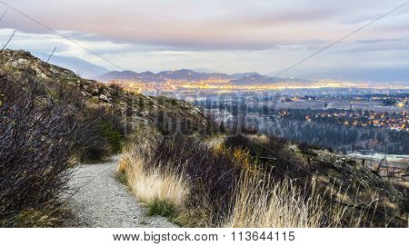 overlooking the city of kelowna, bc, canada