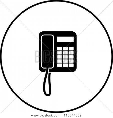 corded telephone symbol