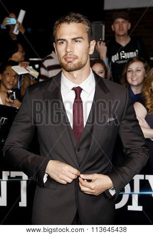 Theo James at the Los Angeles premiere of